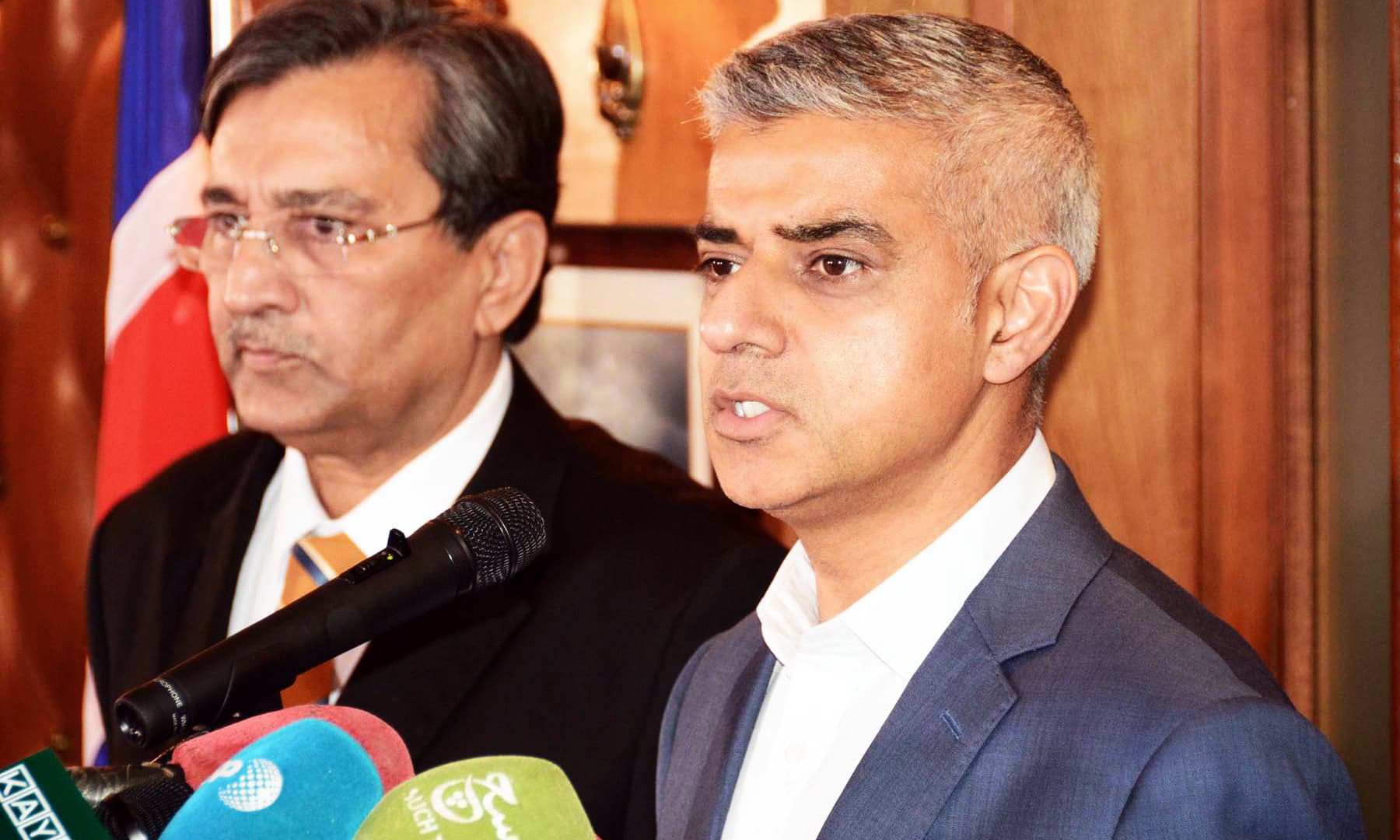 """""""As a world we have got to unite and explain to President Trump why he is wrong,"""" Sadiq Khan says. —Online"""