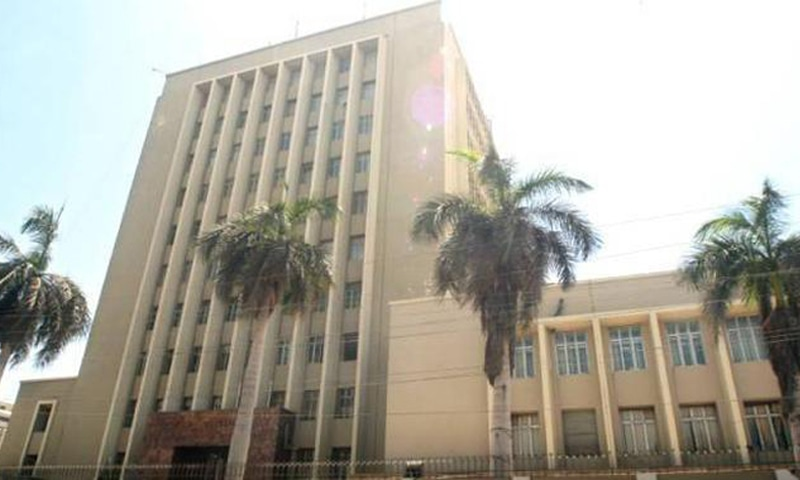 KARACHI: A view of the State Bank of Pakistan (SBP) building. The central bank said on Friday it will intervene in the foreign exchange market in case speculative or monetary pressures emerge going forward.—File photo