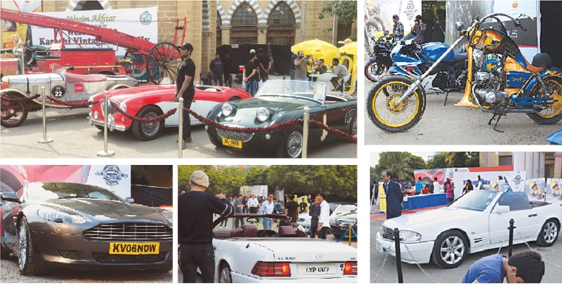 In addition to motorbikes from leading manufacturers such as Harley Davidsons, Suzuki Hayabusas, BMWs, Motorguzzi, Ducatti and Triumphs, there were Ferraris, Bentleys, Aston Martins, Jaguars and Rolls Royces galore at the Car-Nival 2017 show at Frere Hall in Karachi | Photos by Tahir Jamal / White Star