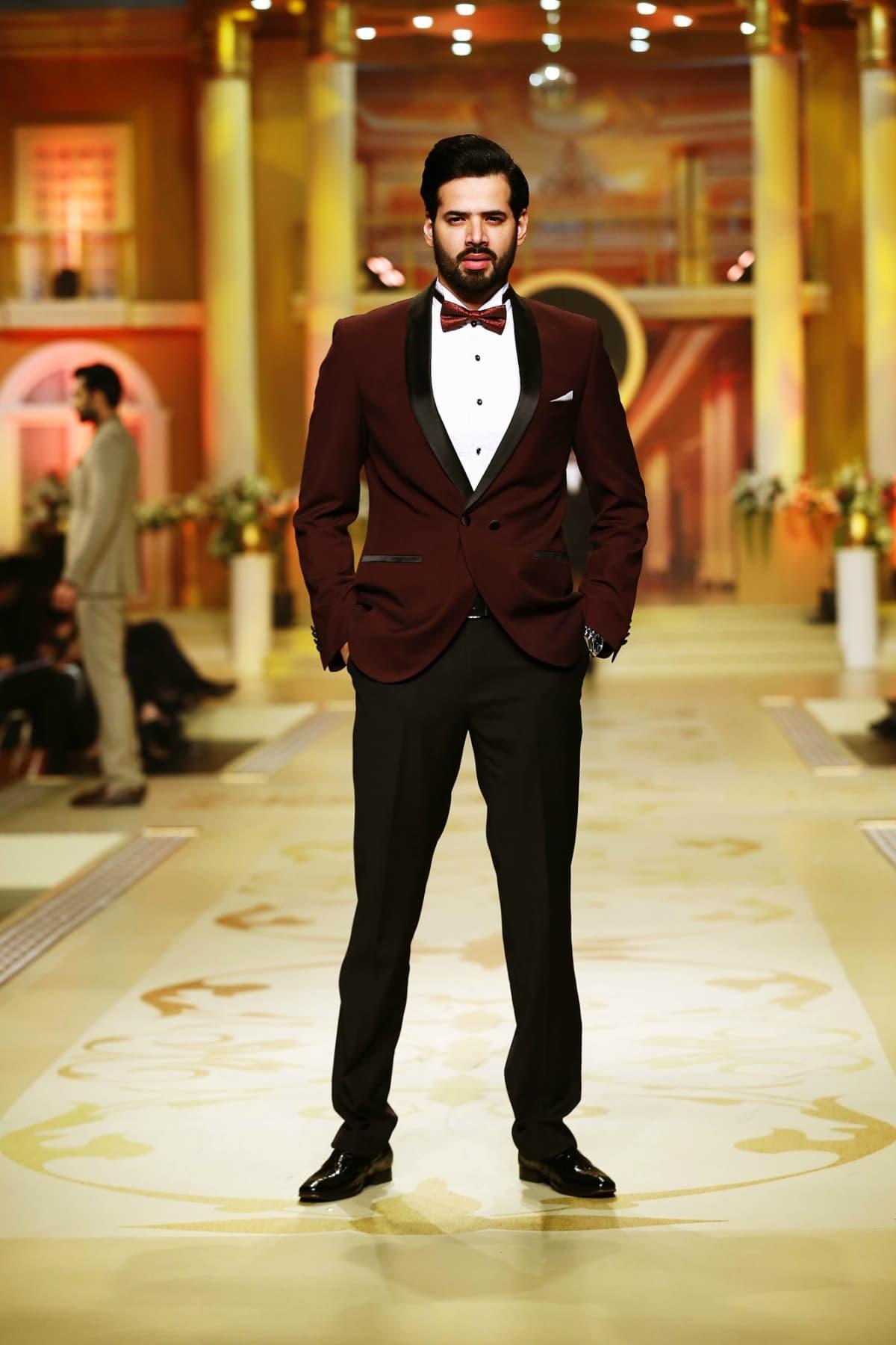 Brown royal tag formal suits for men