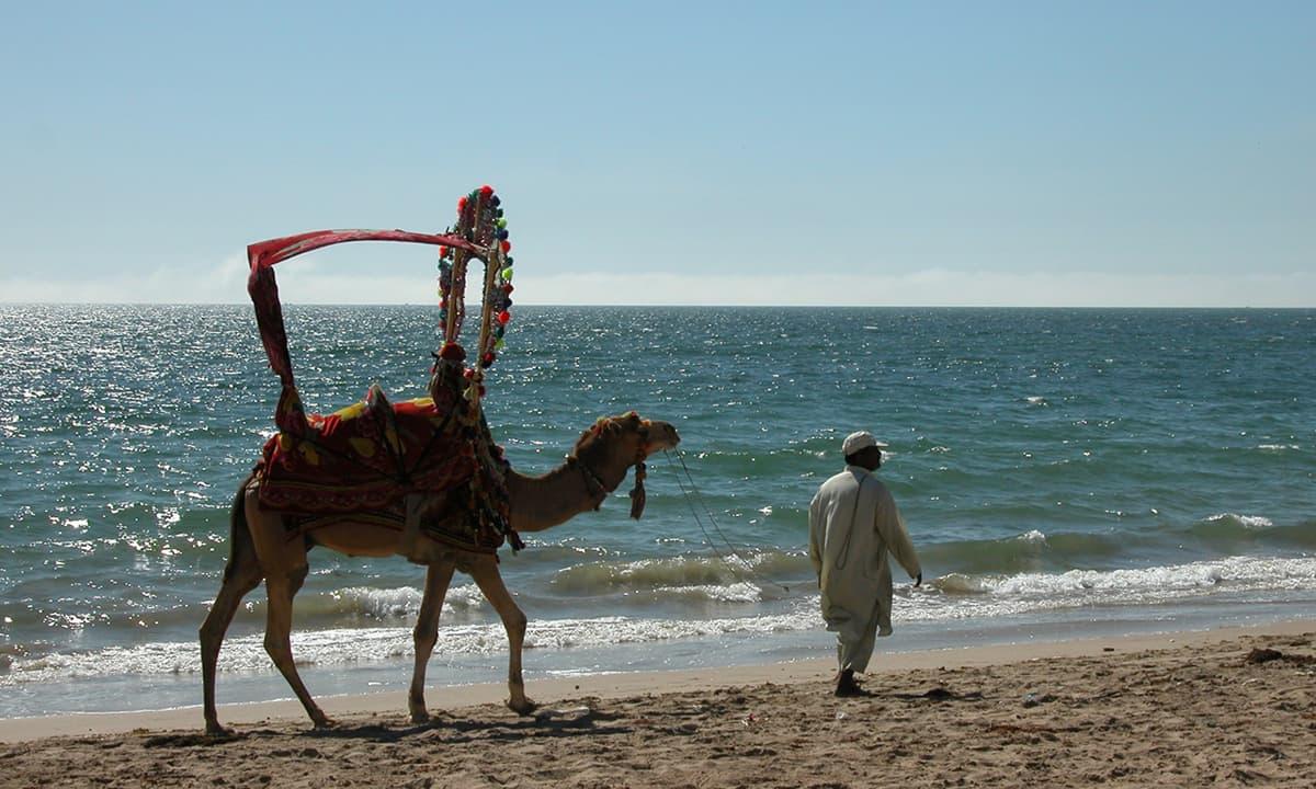 کلفٹن کا ساحل، کراچی۔— فوٹو عبیداللہ کیہر