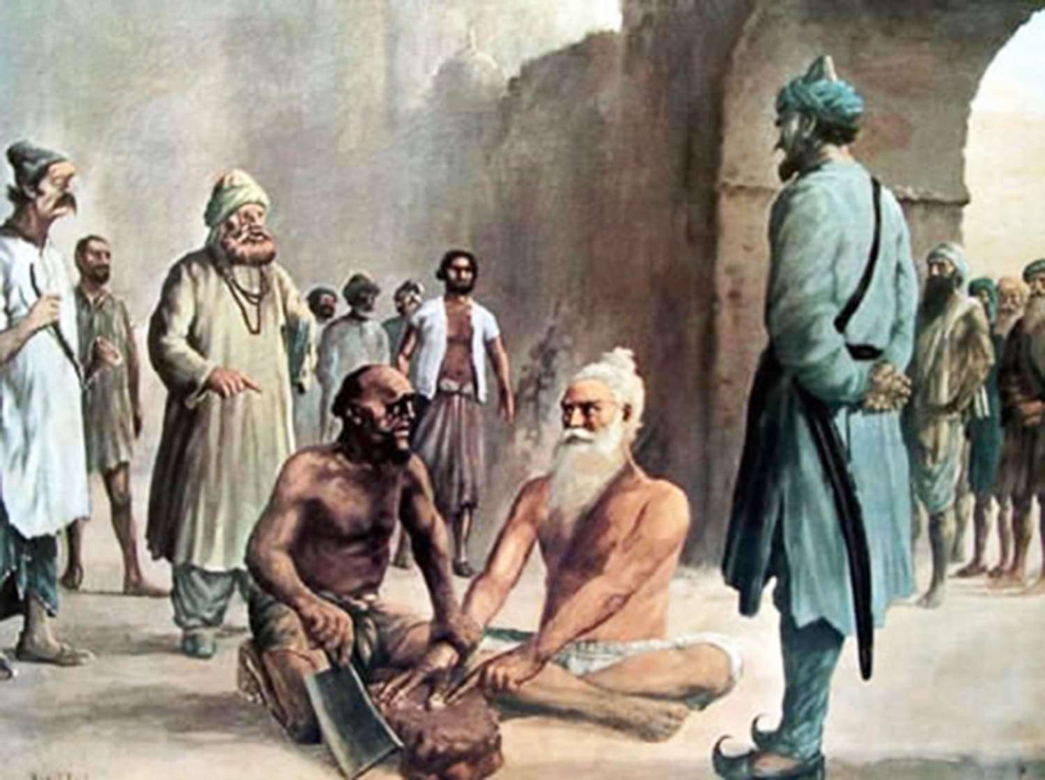 Mani Singh, priest of the Harmandir Sahib, is believed to have been executed by the Lahore governor close to the place where the Gurdwara Shaheed Ganj stands. (Credit: Gurbar Akaal / Wikimedia Commons)