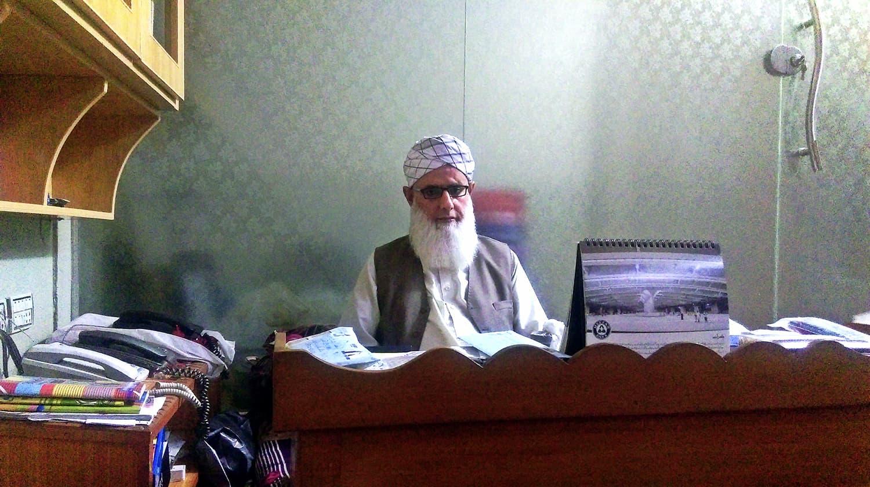 Molana Ashraf Ali in his office.