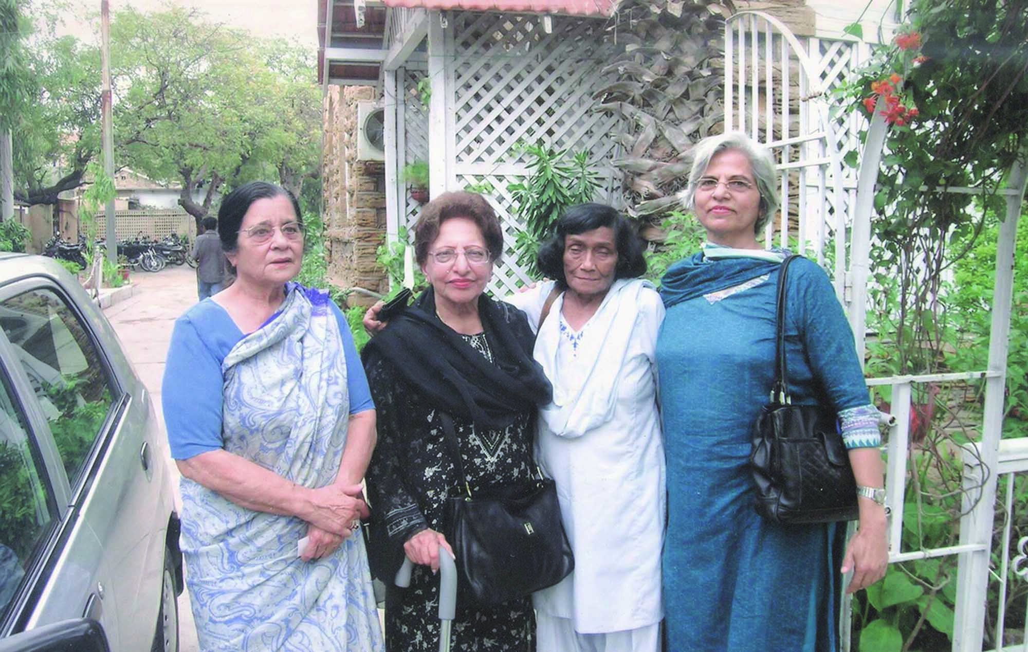 Those who started early and made their mark included (from right) Zubeida Mustafa, Naushaba Burney and Anis Mirza.
