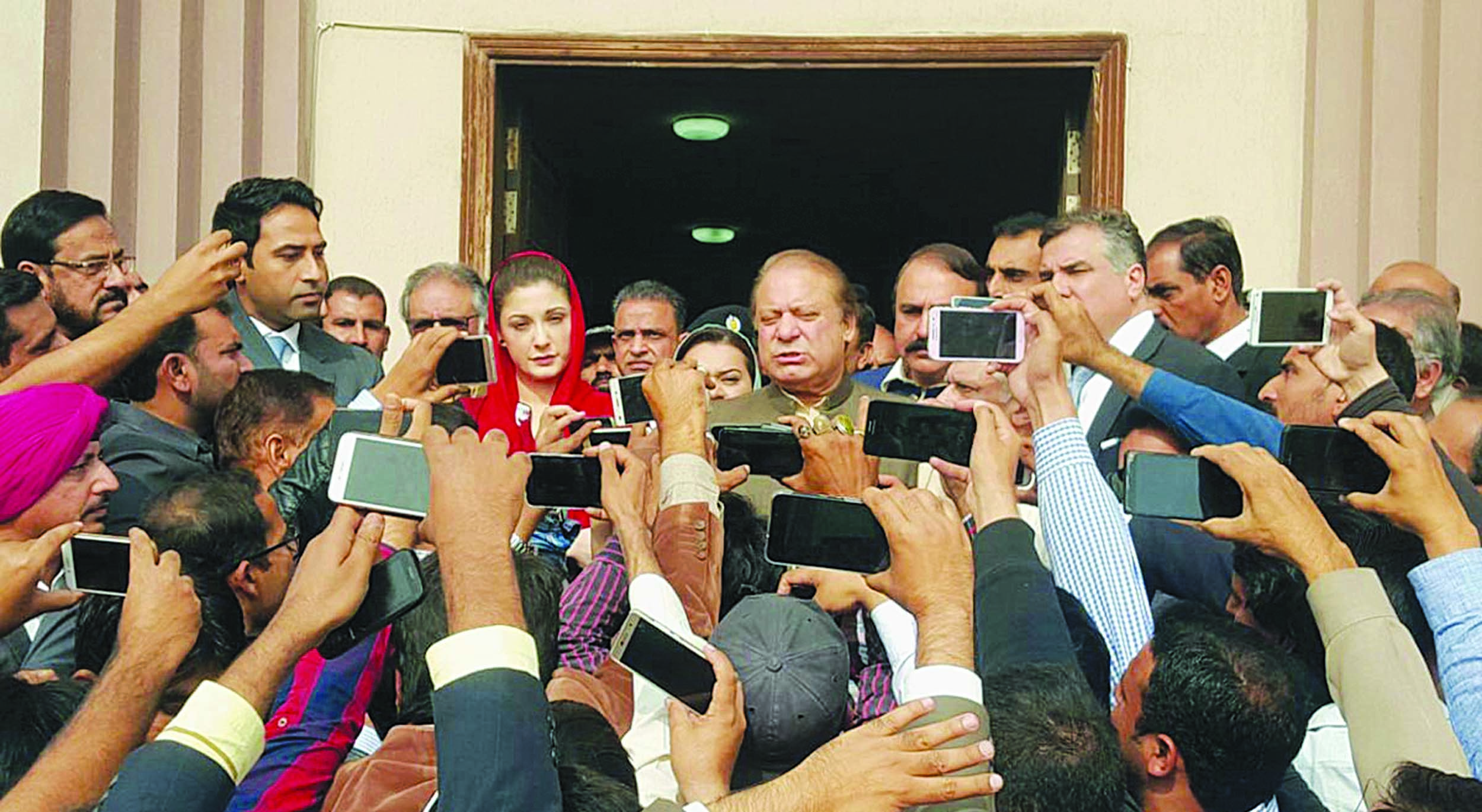 ONCE out of office in the wake of controversy around Panama Papers, Nawaz Sharif and daughter Maryam, among others in the family, had a tough time in and out of the courts.