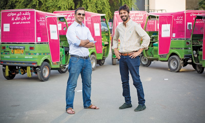 Entrepreneurs and founders of Ticket Kataao, Talha Zaheer (left) and Ahmed Farooq (right).