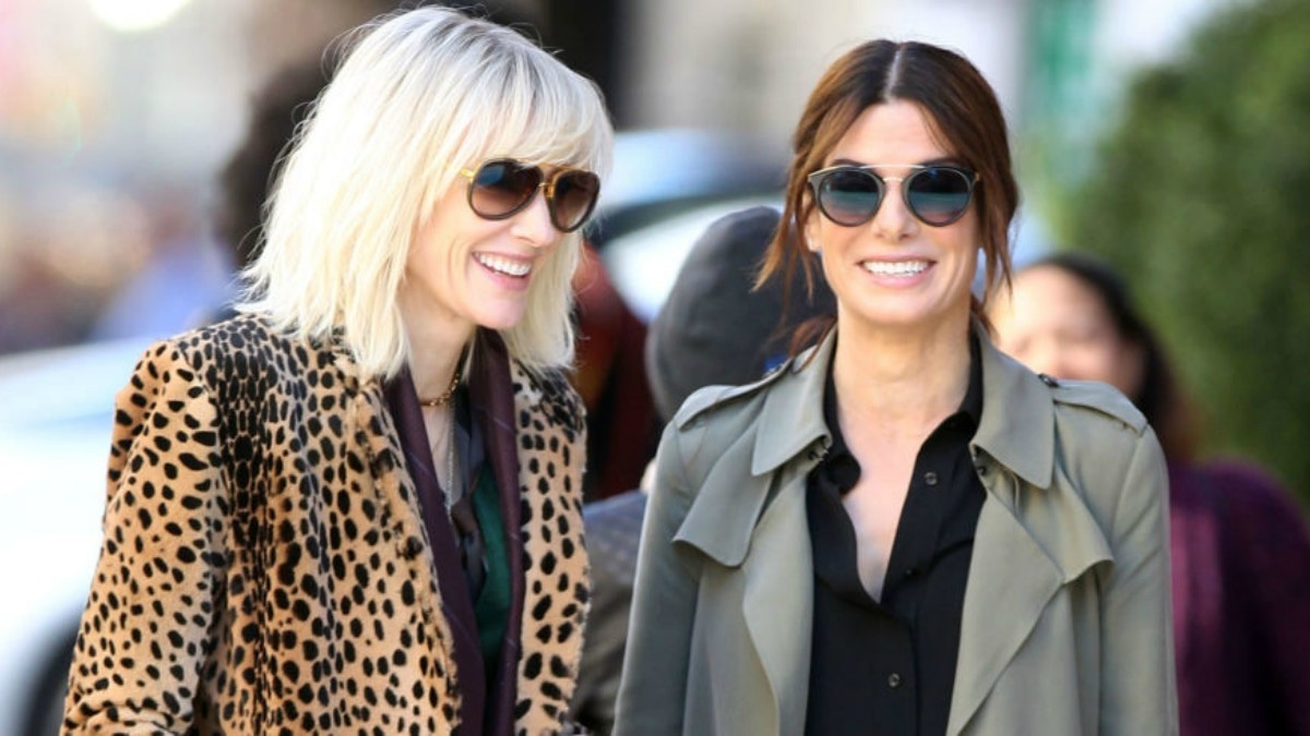 Cate Blanchett and Sandra Bullock in a still from the movie