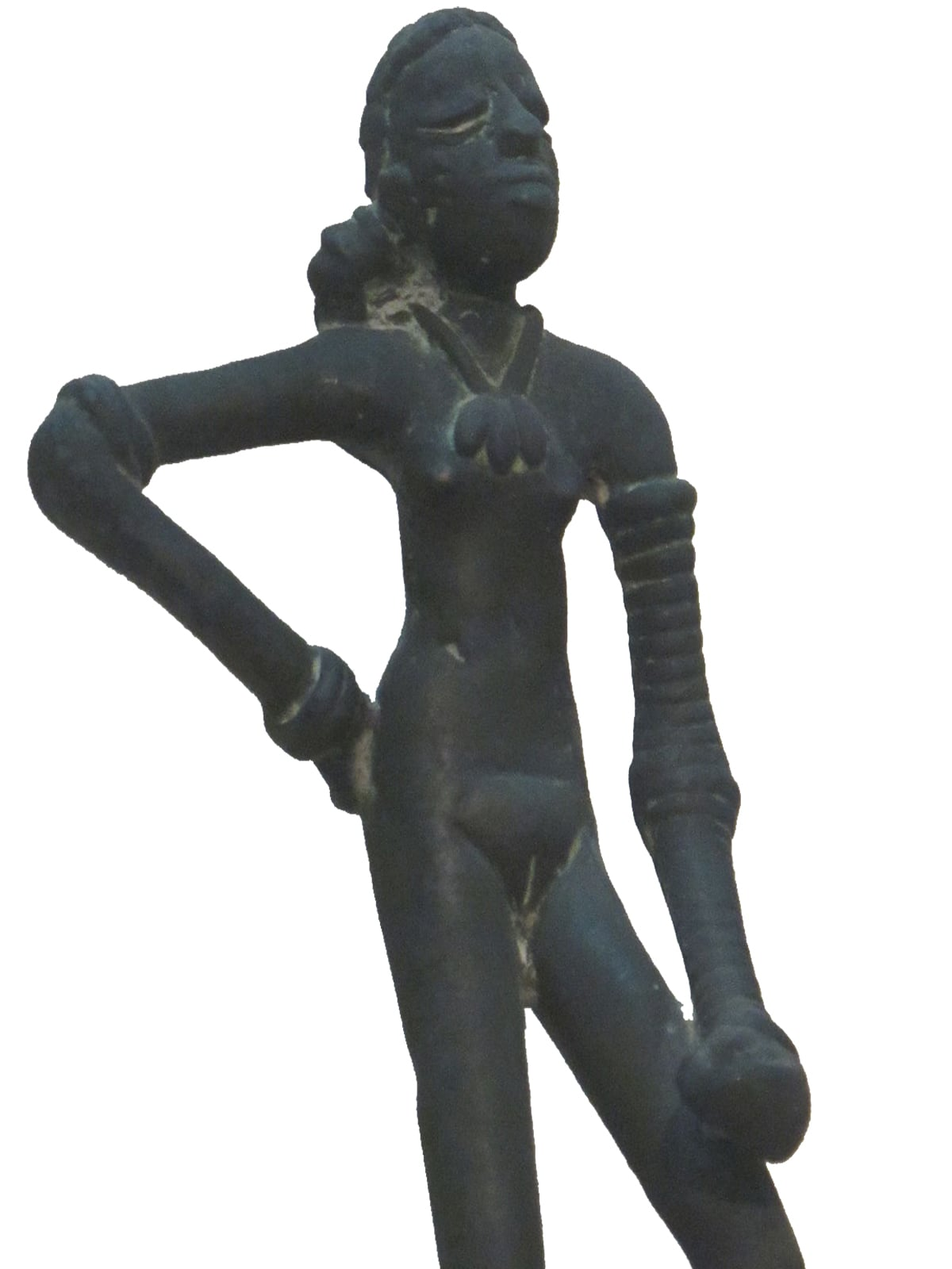 The famous 'Dancing Girl' statue from the ancient city of Mohenjodaro