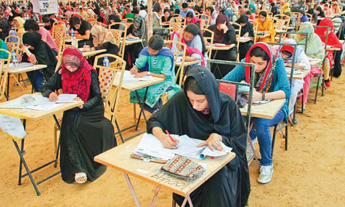 The controversy over a flawed medical entry exam in Sindh