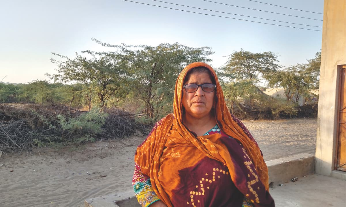 Rasheeda Saand, a health worker in Umerkot