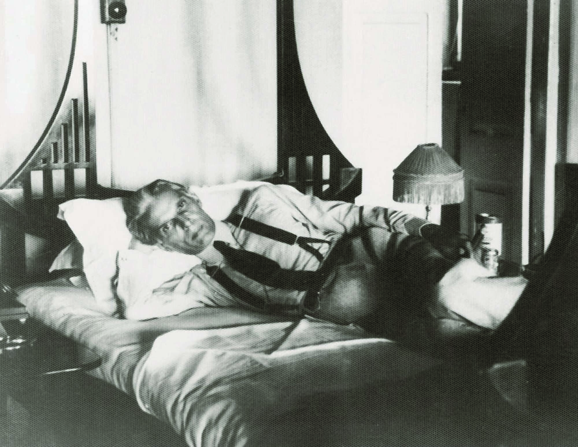 RARE RELAXATION: Mr Jinnah seen relaxing at the famous Cecil's Hotel in Simla.