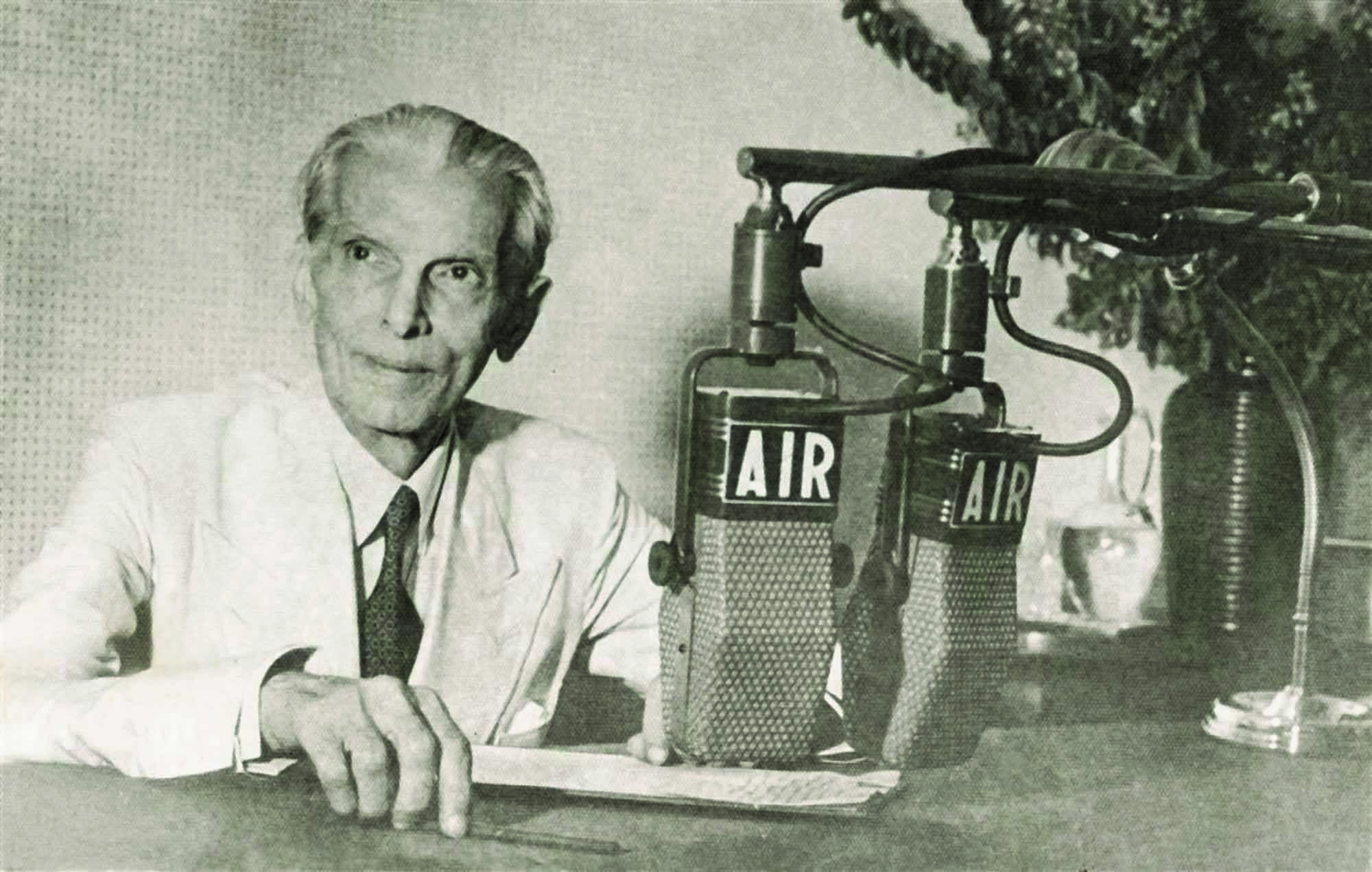 RESPONDING TO LORD MOUNTBATTEN: Mr Jinnah is about to record his response to Lord Mountbatten's June 3 Plan about the partition of India into two dominions.