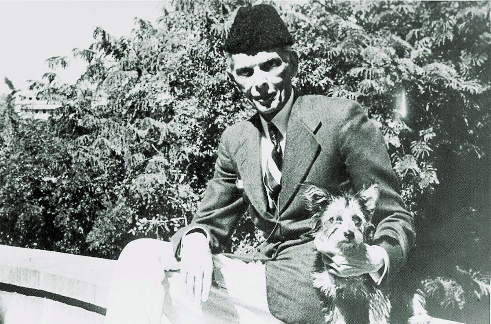 SETTING A PRECEDENCE: Mr Jinnah wearing, during a picnic, what was soon going to be termed the 'Jinnah cap'.