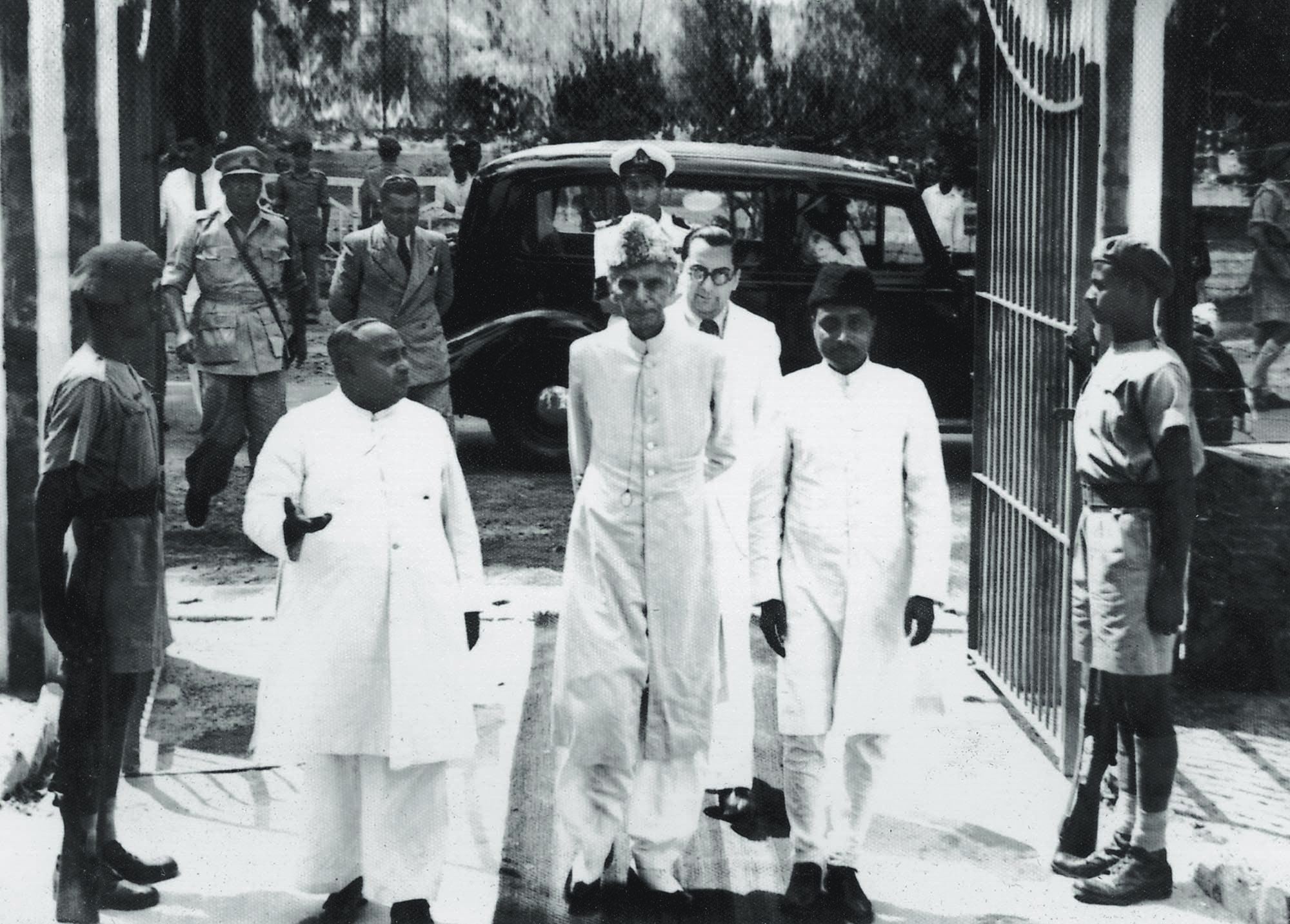 THE LAST VISIT: Mr Jinnah was welcomed by Khawaja Nazimuddin (left) when he arrived at the Governor-General House in Dhaka. This was Mr Jinnah's first visit to East Pakistan as Governor-General, which turned out to be his last as well.
