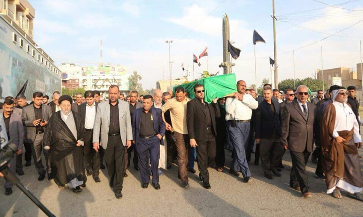 The funeral procession for Mariam Abou Zahab in Najaf, Iraq, held on November 8, 2017