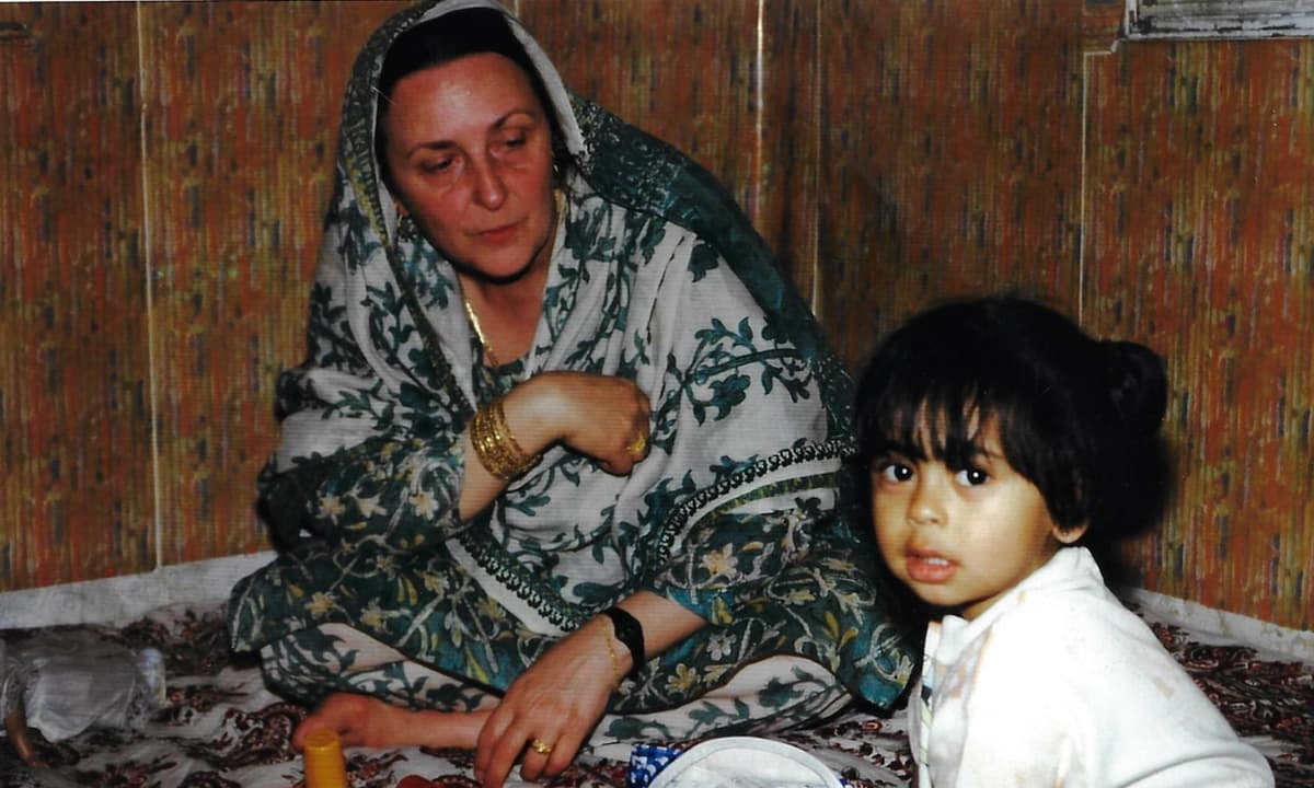 Mariam Abou Zahab on one of her visits to Pakistan in the 1990s