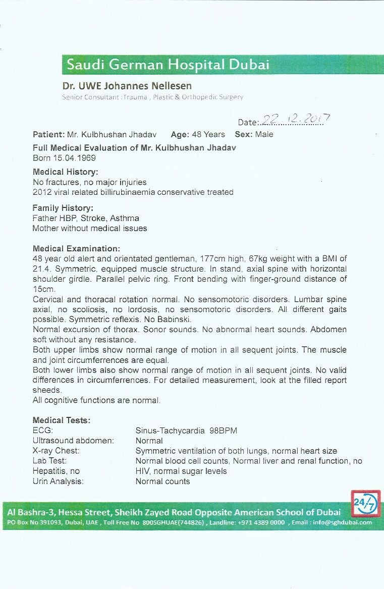 A copy of the medical report presented by the FO spokesperson. ─ Photo courtesy Naveed Siddiqui
