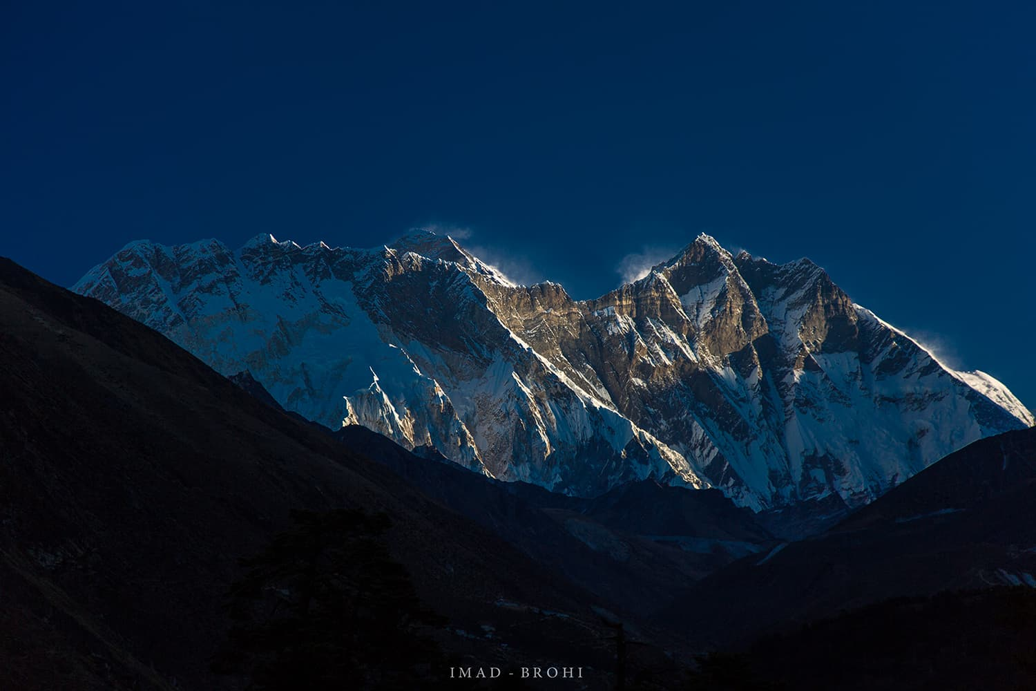 Day 6: First light on Everest massif.
