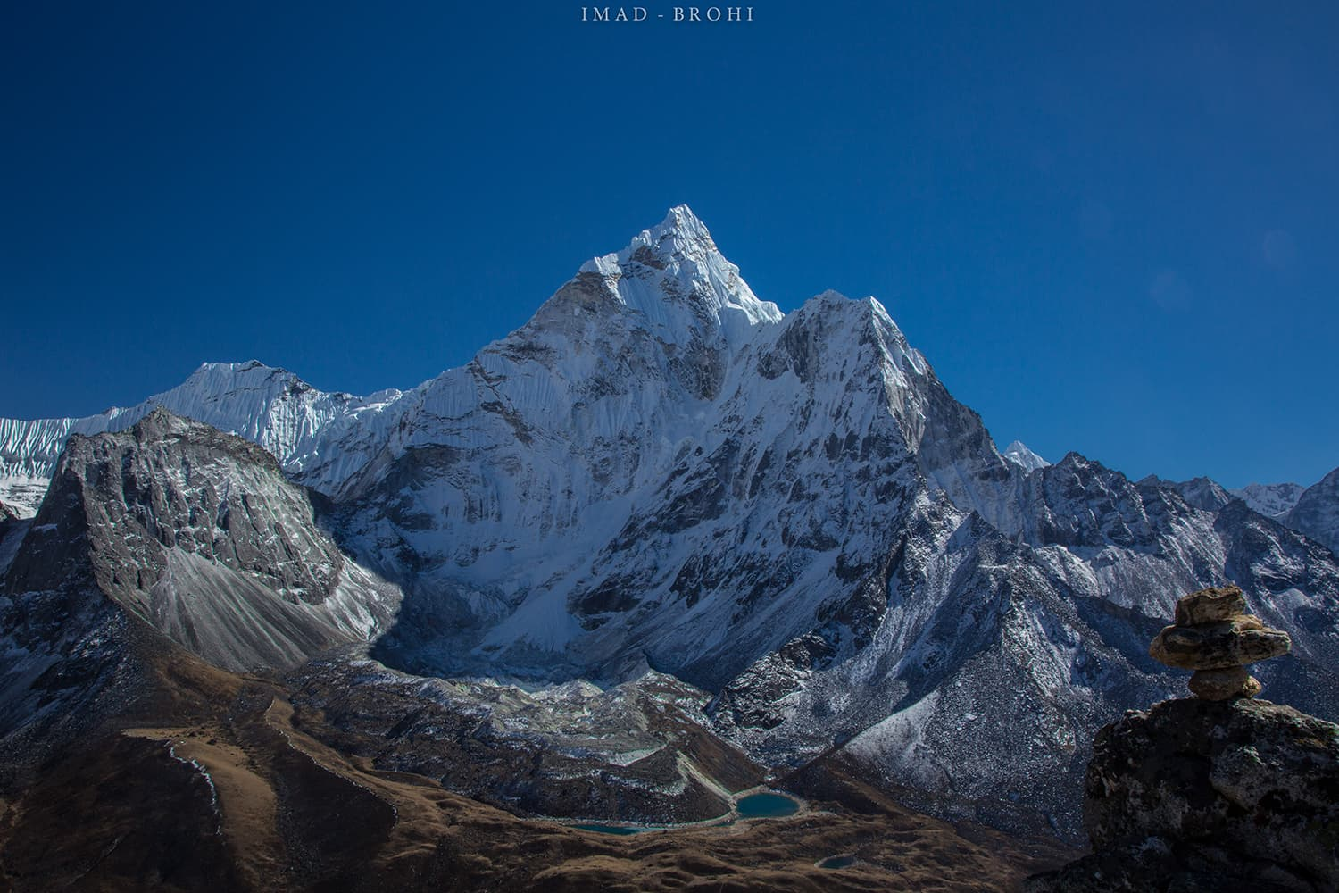 Day 7: Ama Dablam's north face from the top of acclimatisation hike.