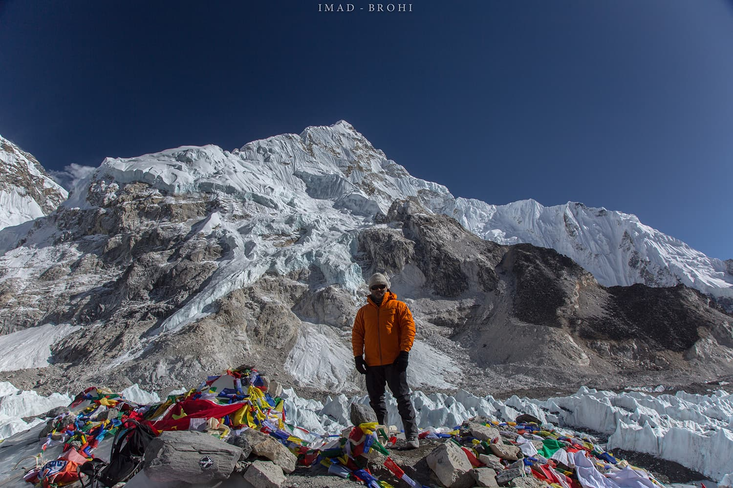 Day 9: Mount Everest Base Camp at 5,265m.