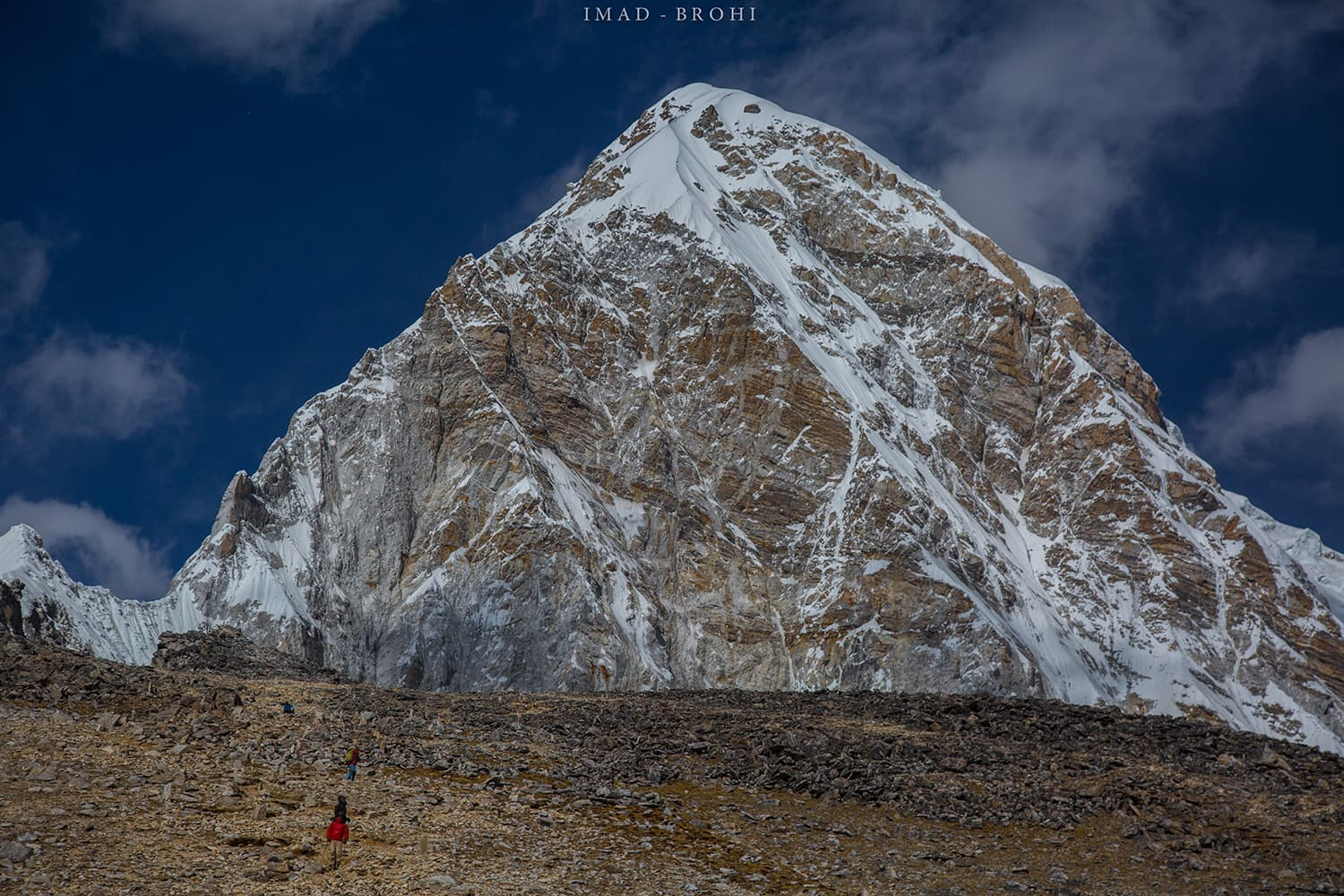 Day 10: Approaching the Kala Pathar (5,650m) summit with Pumori (7,160m) in the background.