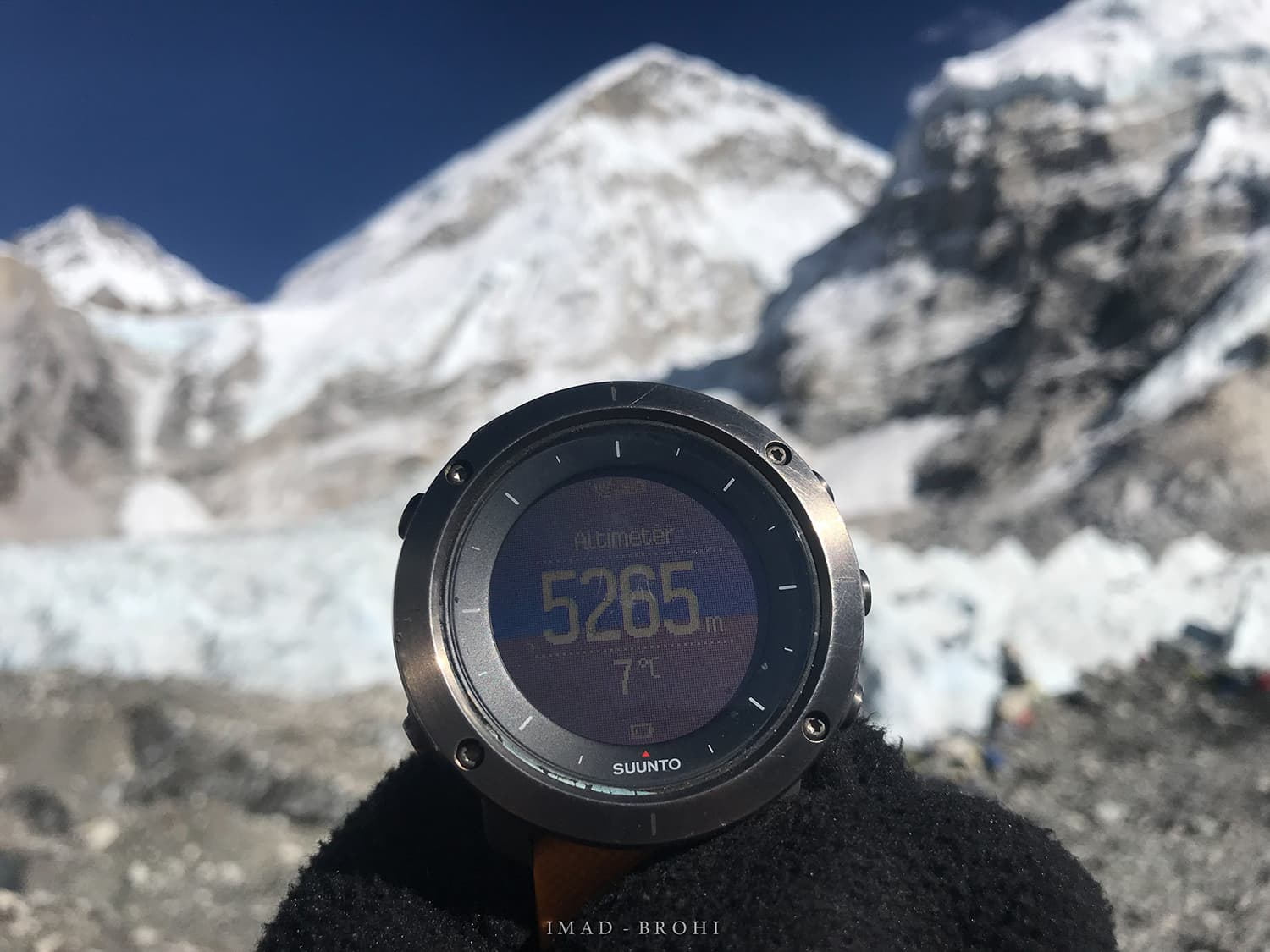 Day 9: Everest Base Camp at 5,265m.