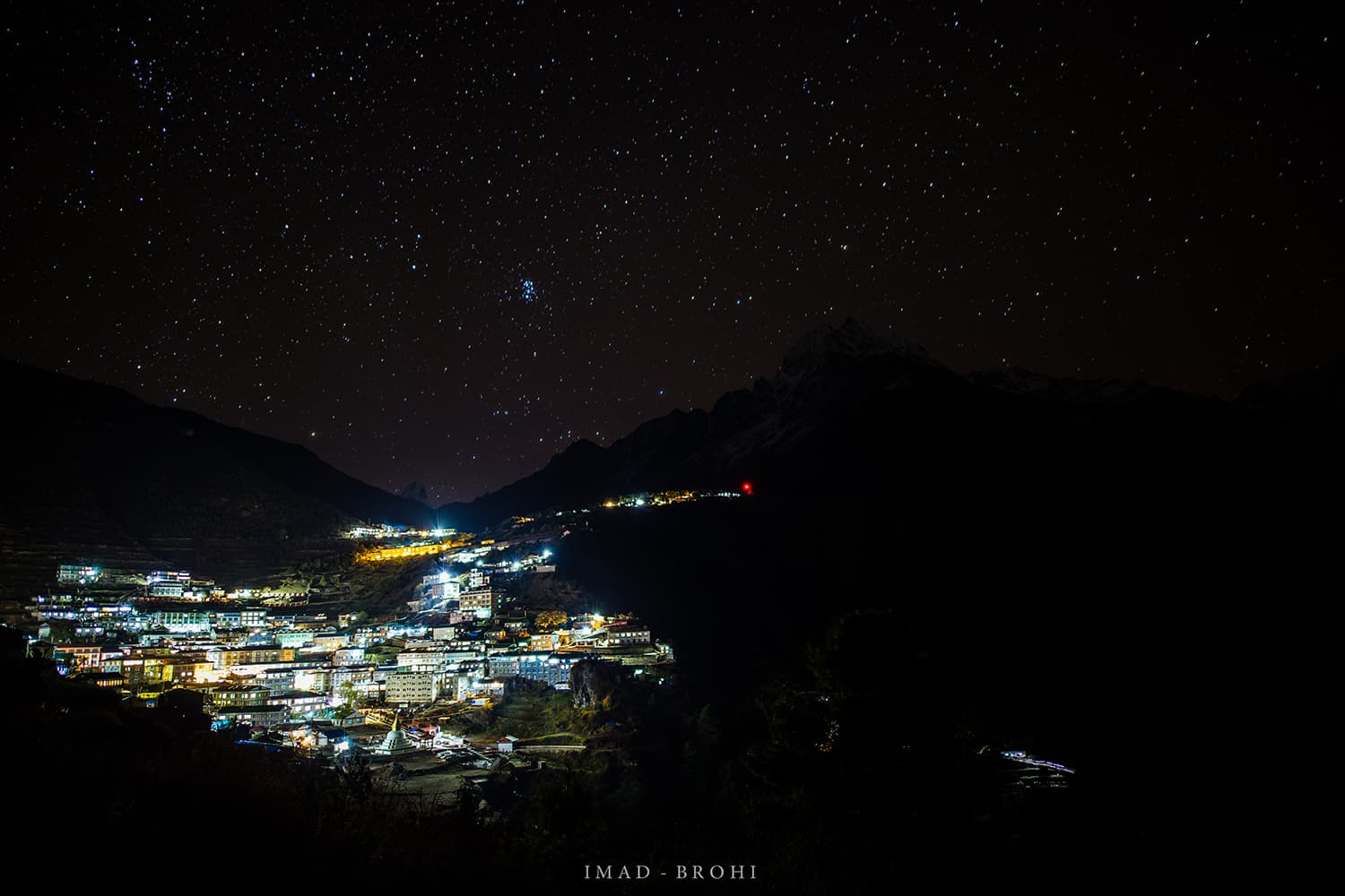 Day 3: Night falls on Namche Bazar.