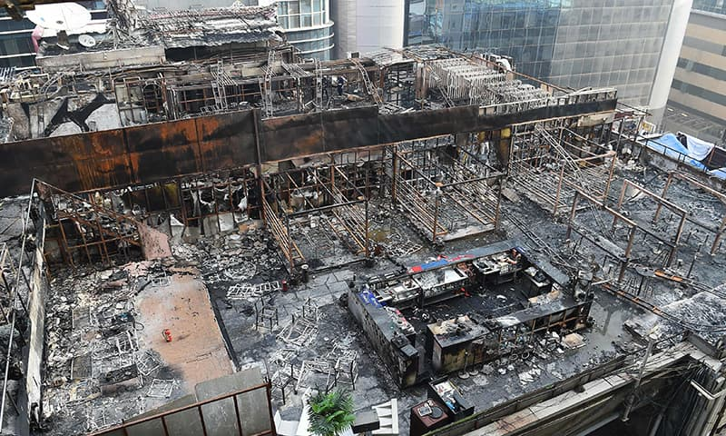 At least 15 dead, building destroyed by fire in Mumbai