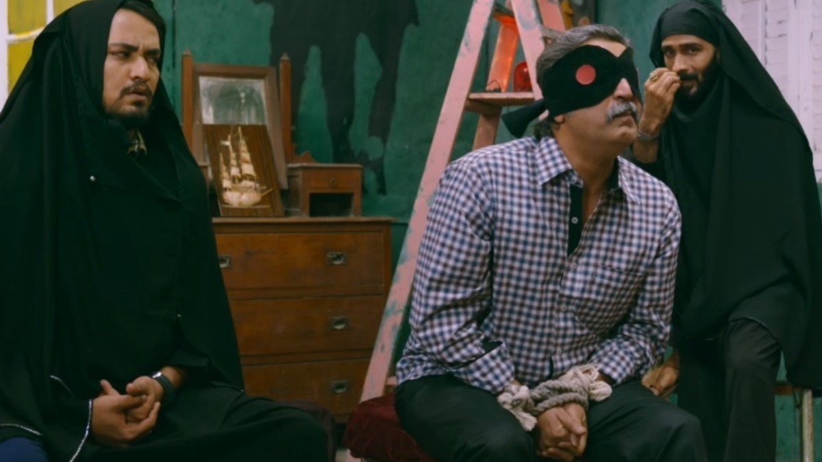 The only time the kidnappers wore disguises and their victim blindfolded