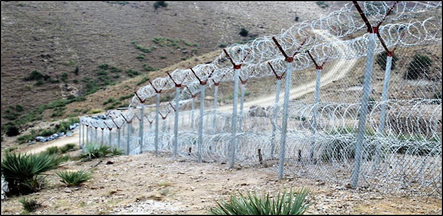 Pak-Afghan border fencing in Kurram Agency. — Photo by author