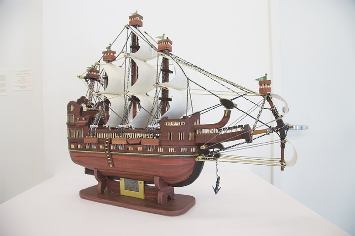 'Giant' model ship by Moath Al Alwi.—Courtesy John Jay College