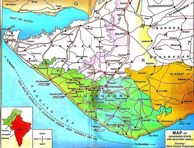 جونا گڑھ کا نقشہ