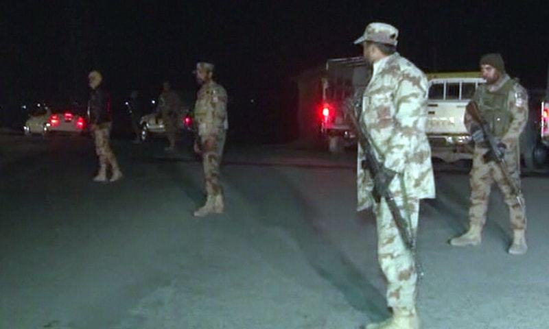 The injured security officials have been shifted to CMH Quetta. —DawnNews