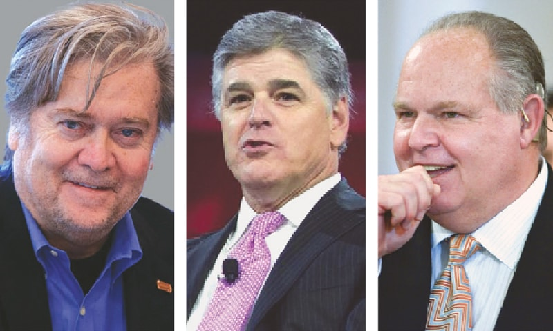 Steve Bannon, Sean Hannity and Rush Limbaugh — making American unhinged again | AP
