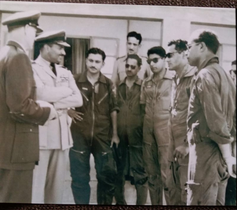 Falcon Aerobatics team meeting Asghar Khan (second from left). The author is third from right.