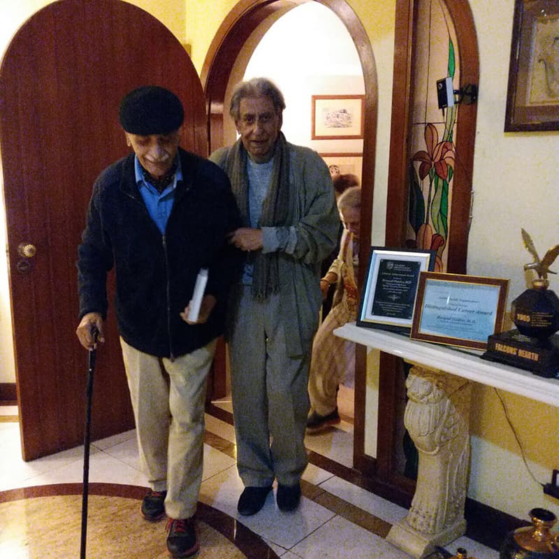 Asghar Khan's recent visit to the author's home in December, 2017. All photos are by the author.