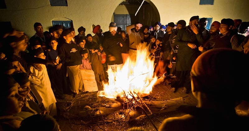 Celebrating Lohri at Gurdwara Patti Sahib. Photo credit: Humayun M