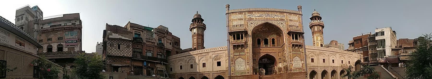 مسجد وزیر خان لاہور پینوراما—تصویر عبیداللہ کیہر