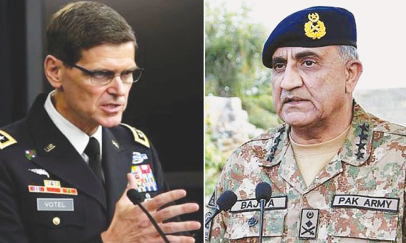 GEN Joseph Votel tells COAS US values Pakistan's role towards war on terror and expects that ongoing turbulence is a temporary phase, according to ISPR.
