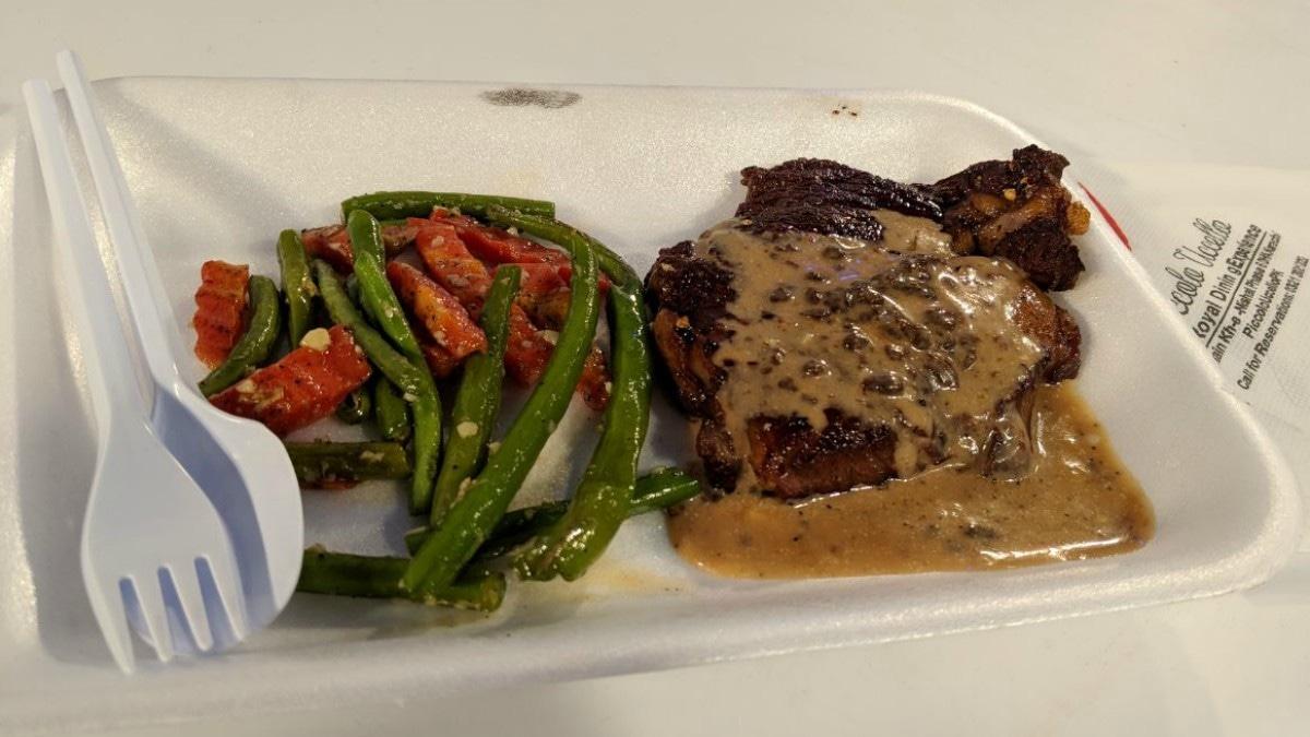 Did we think we'd be served steak this good? Nope.