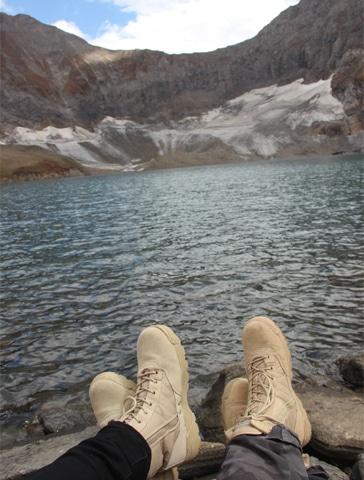 Relaxing together on Ratti Gali Lake, Kashmir