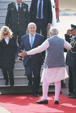 Netanyahu arrives on six-day visit to India
