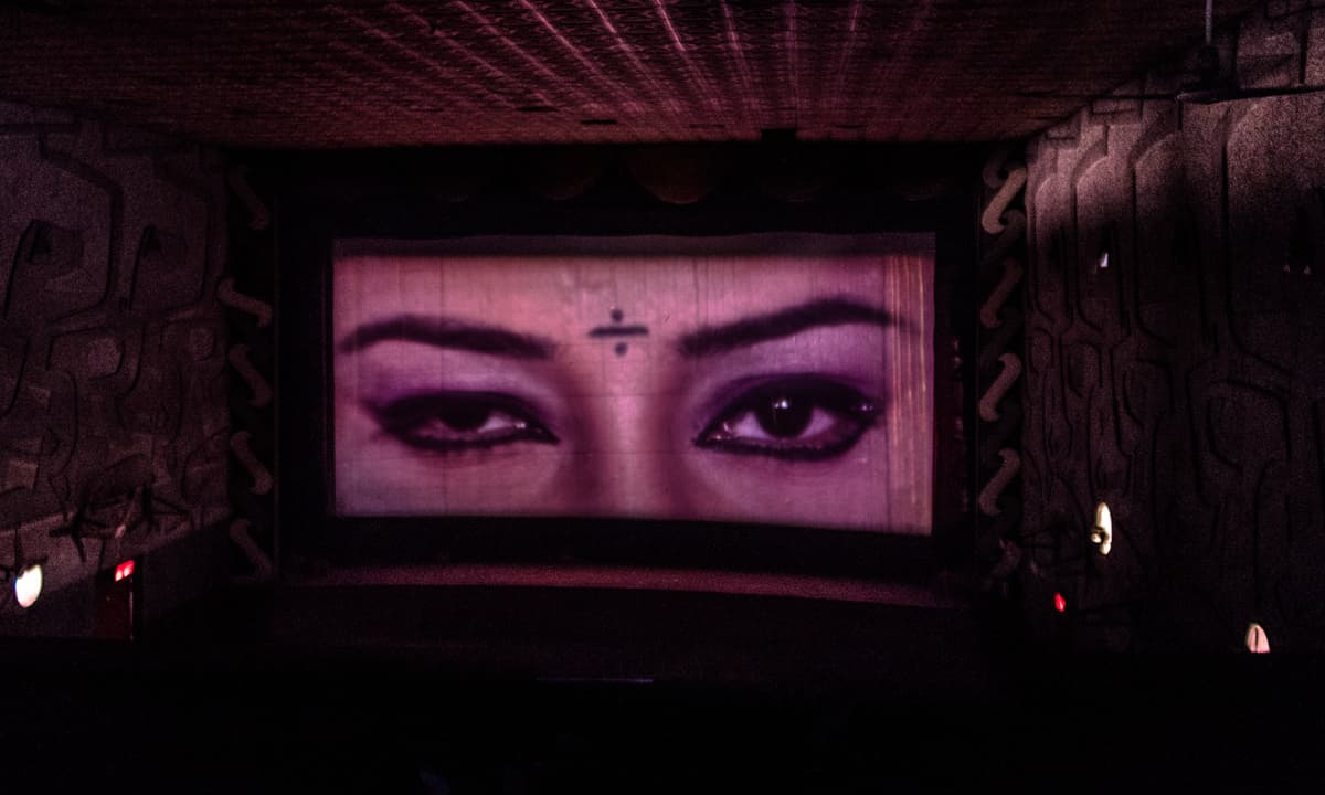 A film being screened at Star Cinema, Karachi   Mohammad Ali, White Star