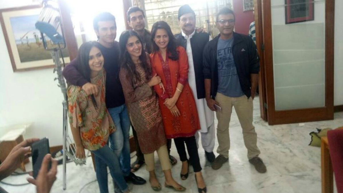 The cast and some crew of Parwarish