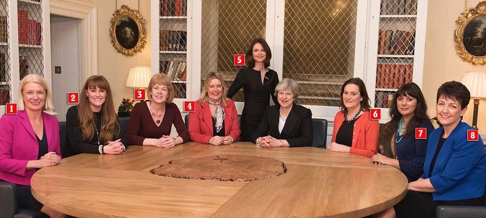 ںصرت غنی برطانوی وزیر اعظم و دیگر پارلیمینٹرینز کے ساتھ—فوٹو: ڈیلی میل