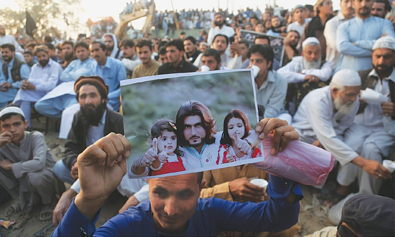 KARACHI: A jirga of Mehsud tribe is under way at Sohrab Goth on Monday to protest against the extrajudicial killing of Naqeeb Ullah a few days ago. Naqeeb Ullah's father addressed the gathering and demanded justice.—White Star