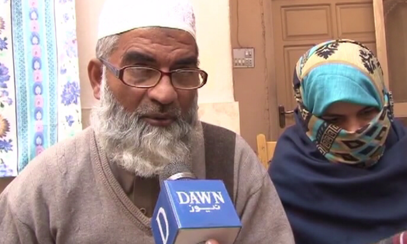 Zainab Amin's parents talking to DawnNews on Wednesday. — Screengrab