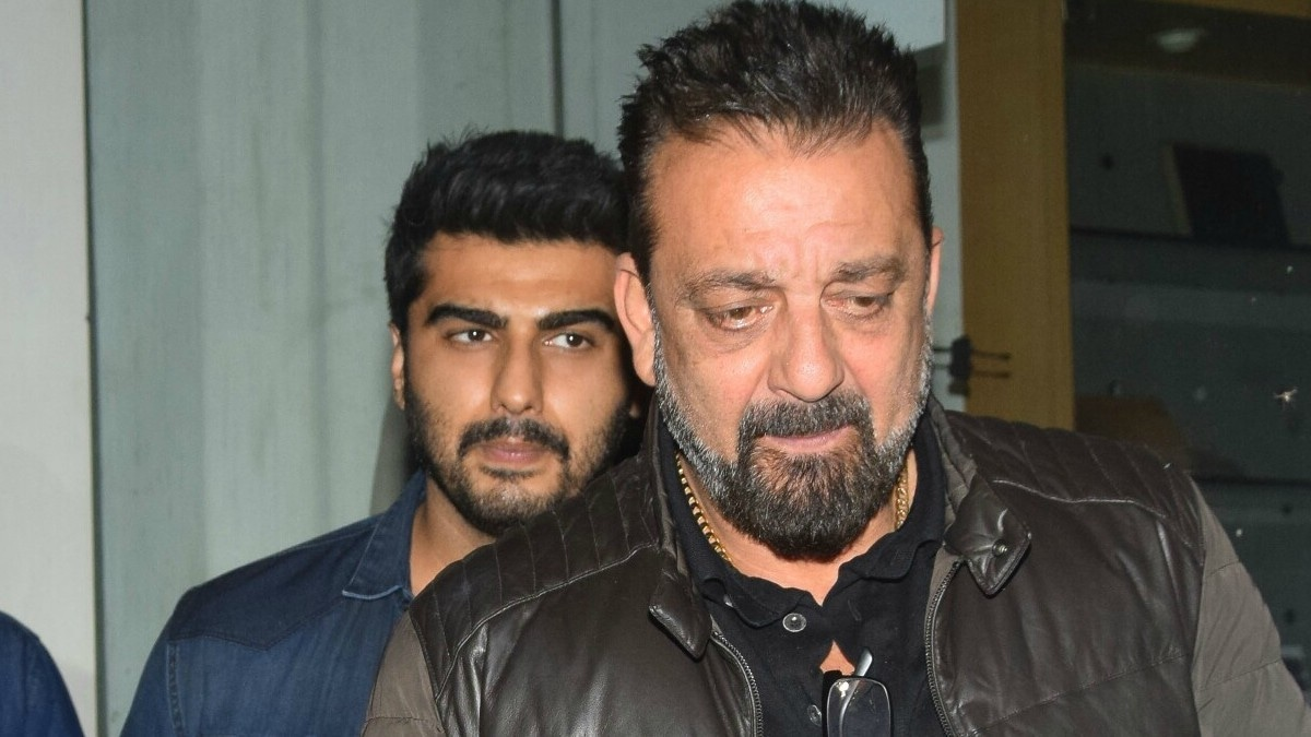 Sanjay Dutt and Arjun Kapoor were seen leaving the director's office after their meeting