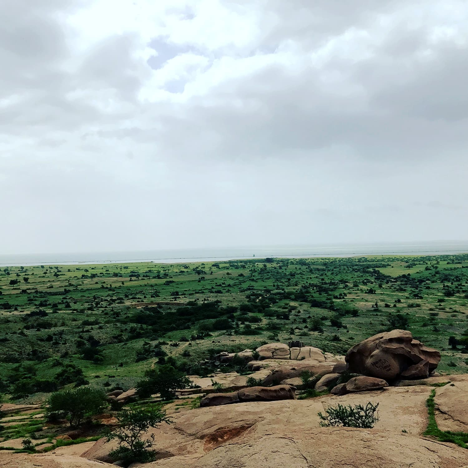 A 180-degree-view of India from the lookout at Kali temple. Churio sits very close to the Gujarat/Rajasthan state border. Jaipur and Jodhpur are two major Rajasthani cities, about the same distance from Churio as is Karachi. Perhaps one day Nagarparkar can be a stopping point for cross-border tourism.