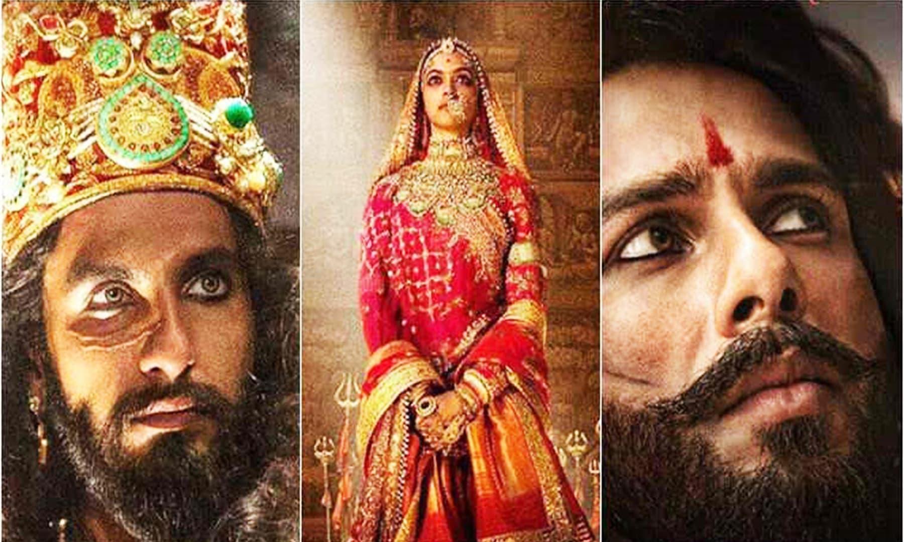 اداکار رنویر سنگھ، شاہد کپور، اداکارہ دپیکا پڈوکون۔